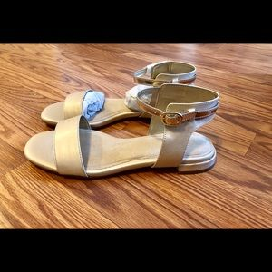 A2 by Aerosoles, Gold sandals.